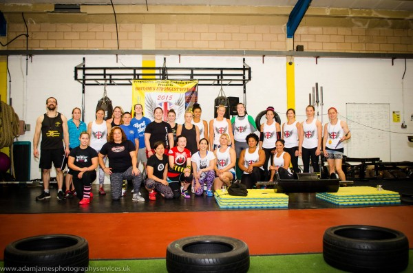 Britain's Strongest Woman 2015 group