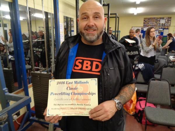 East Midlands Powerlifting 31st Jan 2016 Justin
