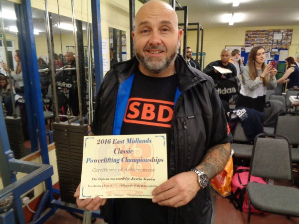 East Midlands Powerlifting 31st Jan 2016 Justin